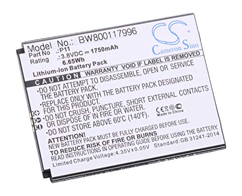 vhbw Li-Ion Akku 1750mAh (3.8V) für Handy Smartphone Telefon Cubot P11