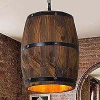 BoTaiDaHong バーカフェライト 木製ワインバレル 吊り下げ器具 天井ペンダントランプ 照明