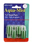 Penn-Plax AS6Q 4-Pack Aqua Mist Air Stone Cylinder Aerator for Fish Tank | Easy to Install to Your Pump | Aerates Your Tank, 7/16' Single 4-Pack