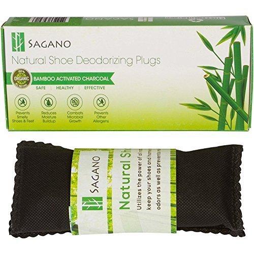 Sagano - El Mejor Desodorante para Calzado de Carbón Activado - 2 77g de Bolsas Absorbentes de Olor, Completamente Natural - Elimina el Olor a Humo, Pies y con los Calcetines Malolientes