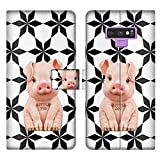 Pinky Pig Phone Wallet Case Compatible Samsung Galaxy Note 9 (6.4 Version) Faddish