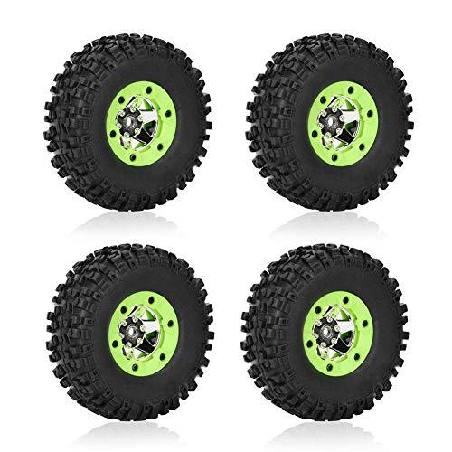 RC-Autoreifen, 1/12 RC-Autoreifen-Rad-Modell-Teile Zubehör für Wltoys 12428 12423 Auto(2 Stücke Linker Reifen+2 Stücke Rechter Reifen)