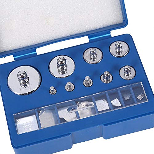 Kalibriergewichte Set, 17teilig Kalibrierung Gewichte10mg - 100g Präzision Kalibrierung Abweichung +/- 0,003g für Digital Schmuck Waage Labor Studium Gewichte