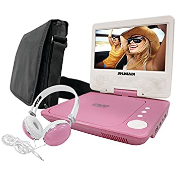 Sylvania Combo-Pink, 7-Inch Portable DVD Player, Bundle