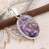 Sugilite Pendant, 925 Sterling Silver Pendants for Womens, Oval Gemstone Pendants, Handmade Pendants, Ciondoli in argento per regalo donna