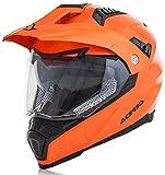 Acerbis Casco Flip fs-606 Naranja neón XL