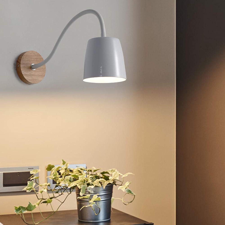 Moderne led applique murale creative simples luminaires salon salon lumières contemporaines pour la chambre à coucher chambre lampe de mur @ Blanc