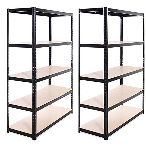 180CM Heavy Duty Display Shelf Metal Storage Racks Adjustable Shelves Workshop Shed Office,Kitchen, Bathroom,Dining Room Garage