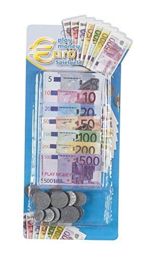 Jeu Set argent et monnaie - 90 Pieces - Dinette et marchande - Euro