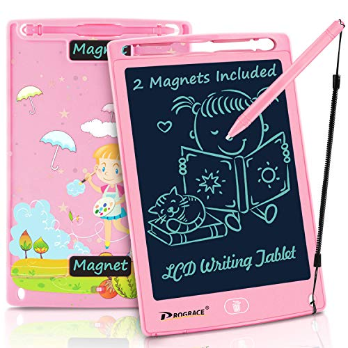 PROGRACE LCD Writing Tablet for Kids Learning Writing Board Magnetic Erase LCD Writing Pad Smart Doodle Drawing Board for Home School Office Portable Electronic Digital Handwriting Pad 8.5""