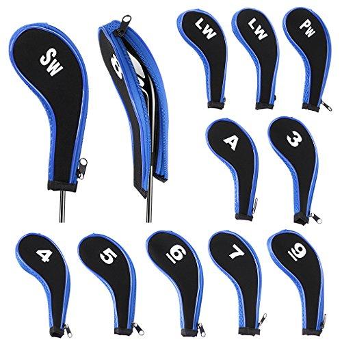 IGNPION Protector de cabeza de palo de golf con cuello largo con cremallera para Titleist, Callaway, Ping, Taylormade, Cobra, Nike