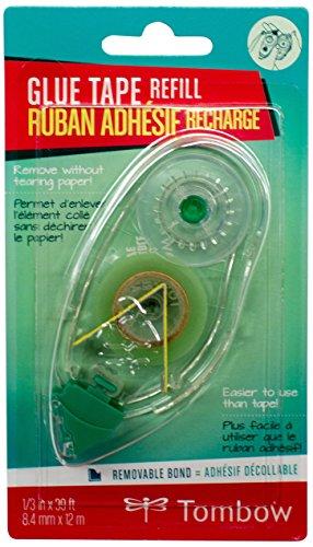 Tombow PR-MK Nachfüllkassette für Kleberoller, wiederablösbar, 8.4 mm x 12 m