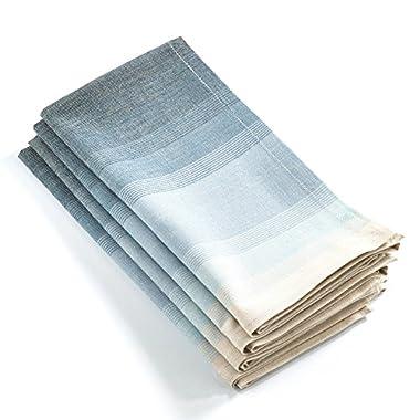 Fennco Styles Ombre Canaletto Napkins - 20-inch Square - Set of 4 (Aqua)