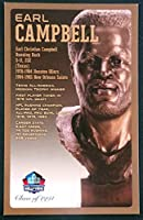 PRO FOOTBALL HALL OF FAME Earl Campbell NFL Bronze Bust Set Card Postcard (Limited Edition # of 150) [並行輸入品]