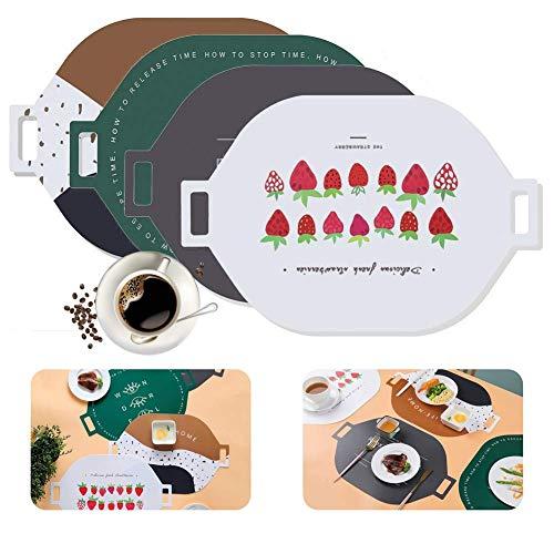 Esteras de mesa de comedor antideslizantes resistentes al calor, Manteles individuales de mesa de comedor de cocina resistentes a las manchas, Manteles individuales de PP Manteles individuales de cena
