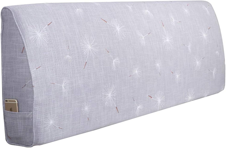 Accessoires de mobilier de mode Sacs de chevet Sacs souples Double oreiller nordique en tissu et coussins au dos (Couleur   C, taille   120  60  10cm)
