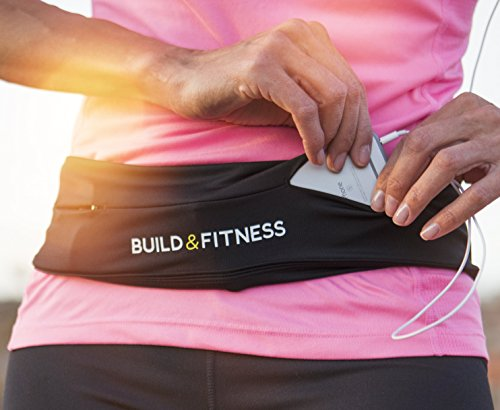 Laufgürtel & Fitnessgürtel, Flipgürtel mit Schlüsselclip, Passend für iPhone 8plus,XS,11 pro. Samsung. Unisex, Für Training in Fitness-Club, Übungen, Radfahren
