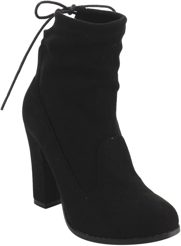 Chase & Chloe Solvang-1 Women's Block Heel Ankle Bootie