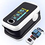 Pulse oximeter fingertip with Plethysmograph and Perfusion Index, Portable Blood Oxygen Saturation...