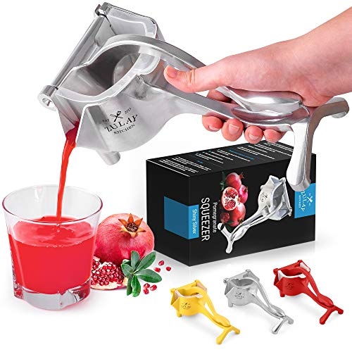 Zulay Fruit Manual Juicer- Heavy Duty Juice Press Squeezer with Detachable Lever...