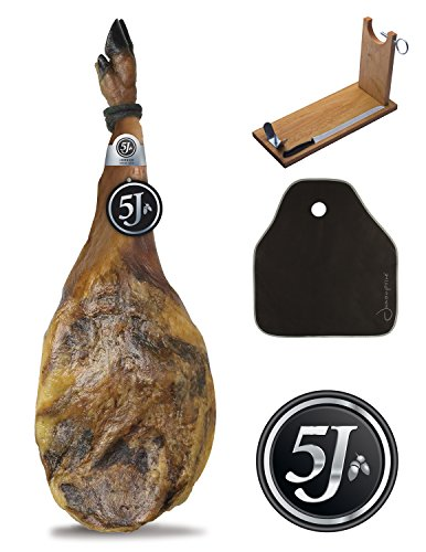 Pata Negra Schinken (Vorderschinken) 100% Iberico aus Eichelmast Cinco Jotas (5J) 4,5 - 5,5 Kg +...