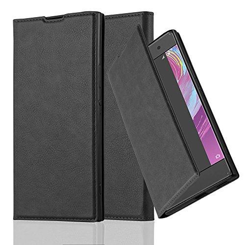 Cadorabo Funda Libro para Sony Xperia XA1 Ultra en Negro Antracita - Cubierta Proteccíon con Cierre Magnético, Tarjetero y Función de Suporte - Etui Case Cover Carcasa