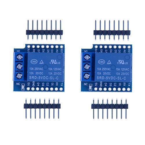HUABAN 2 x 1-Kanal Shield Relais für Arduino D1 Mini Wifi ESP8266 Modul