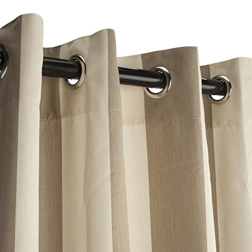 Sunbrella Outdoor Curtain with Nickel Plated Grommets - Regency Sand - 54 in X 108 in