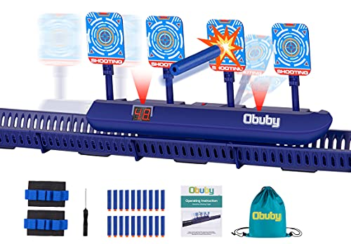 Obuby Toys for Kids Electronic Running Scoring Shooting Targets Boys & Girls Gifts Electric Auto Reset Digital Practice Target Games with Updated Moving and Static Modes