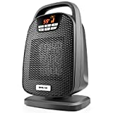 1500/750 Ceramic Digital Space Heater, Shut Off and Turn on Timer, Quiet Operation