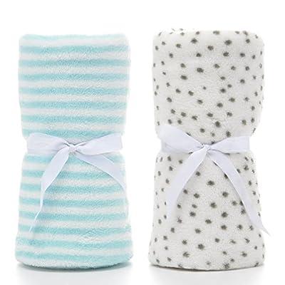 LeerKing Soft Dog Blankets Washable Coral Fleece Pet/dog/Puppy/Cat/Kitten Bed Blankets Spring Summer, White&Blue by LeerKing