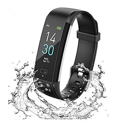 スマートスポーツ時計,歩数計 活動量計 心拍計 腕時計IP68防水スポーツウォッチ睡眠監視/フィットネストラッカー,子供向/女性/男性,の サポート機器iPhone/Android対応 (黒い)