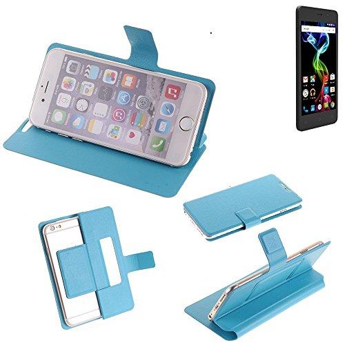 K-S-Trade® Flipcover Für Archos 45d Platinum Schutz Hülle Schutzhülle Flip Cover Handy Case Smartphone Handyhülle Blau