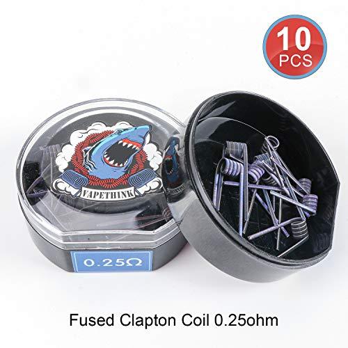 Fused Clapton Wire Atemto DIY Heating Coil Wire 15 FEET 28GA*2+32GA with Cotton /…