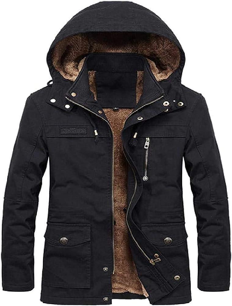 New WinteJacket Men Thicken Warm Hooded Coat Fleece Men's Jackets Outerwear