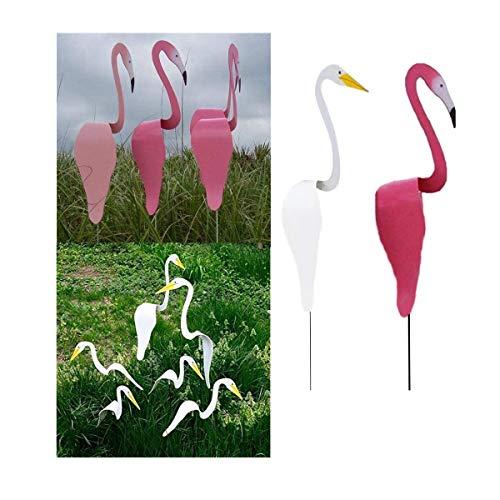Swirl Bird: un pájaro caprichoso y dinámico Que Gira con la Ligera Brisa del jardín, Flamingo Wind Spinner, esculturas de Viento para decoración de Fiesta en el Patio del hogar.