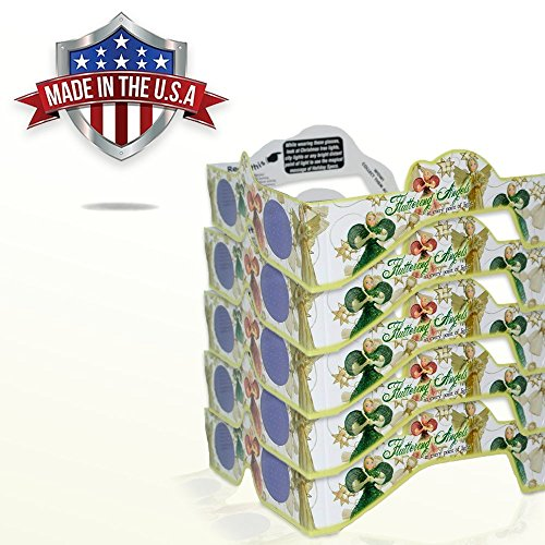 3D Christmas Glasses - 5 Pack - A Fun Christmas Experience! Turn Holiday Lights Into Magical Images. At Every Point Of Light See ANGELS! Our USA MADE Holiday Specs Are Perfect For Festivities!