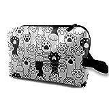 XCNGG Bolsa de almacenamiento de maquillaje de viaje, bolso de aseo portátil, pequeña bolsa organizadora de cosméticos para mujeres y hombres, pata de gato, gatito de raza de gato
