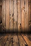 MEHOFOTO Vintage Wood Photo Studio Booth Backdrop Vinyl Newborn Baby Background for Photography 5X7ft