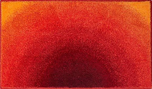 Grund Badteppich 100% Polyacryl, ultra soft, rutschfest, ÖKO-TEX-zertifiziert, 5 Jahre Garantie, SUNSHINE, Badematte 60x100 cm, orange