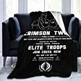Smerkpawr Gi Joe Crimson Twins Join Cobra Now Fleece Flannel Throw Blanket Lightweight Ultra-Soft Warm Bed Blanket Fit Sofa Suitable