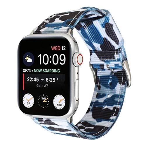 Banda de camuflaje verde militar Banda de Apple Watch Iwatch 6 SE 5 Correa de nailon 38 mm 40 mm 42 mm 44 mm Serie 6 SE 5 4 3 21 Pulsera deportiva