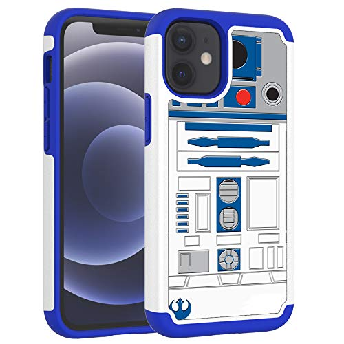 iPhone 12 Mini Case, iphone12 Mini Cover, R2D2 Astromech Droid Robot Pattern Shock-Absorption Hard PC and Inner Silicone Hybrid Dual Layer Armor Defender Case for Apple iPhone 12 Mini (5.4 inch) 2020