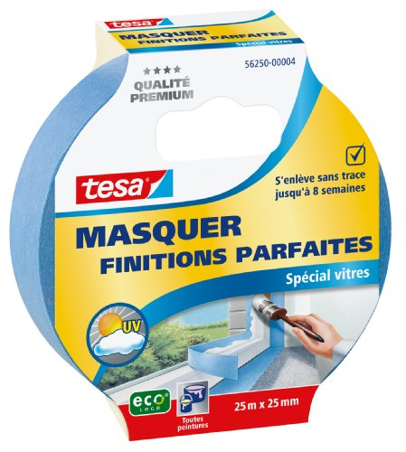Tesa 56250-00004-00 Abdeckband für Fenster, 25m x 25mm