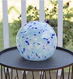 Echo Valley Aqua Solar Spirit Orb Blue Hand Blown Glass LED Light