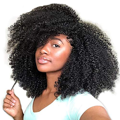 African American Afro Kinky Curly Clip in Human Hair Extensions for Black Women Natural Color Full Head Thick 8 Inches 4B 4C Clip in Hair Extensions 8 Pieces per Set120 Gram