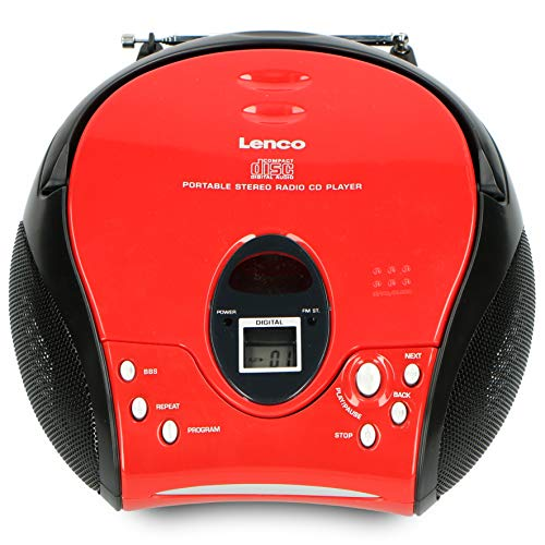 Lenco SCD-24 Portable Stereo Boombox with CD Player & FM Radio –...