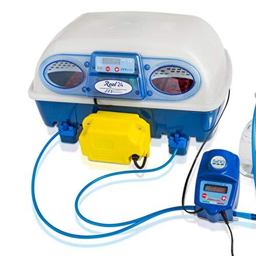 Borotto REAL 24 Expert - Patentierte professionelle automatische Brutmaschine mit automatischem Luftbefeuchter Sirio - für 24 Eier oder 96 kleine Eier