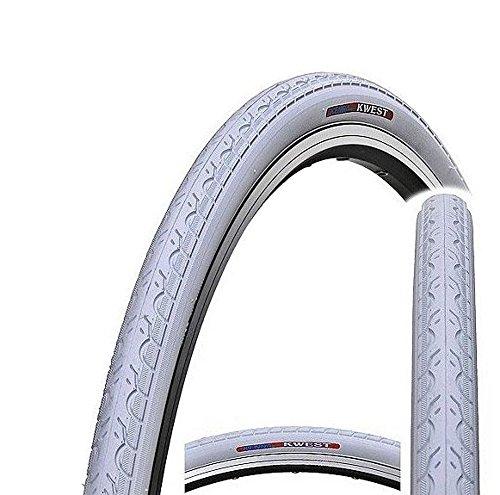 Kenda K193 Kwest 700 C x 28C Urban Fahrrad, Hybrid Road Fixie Slick Bike Tire, Kwest, weiß, 28C