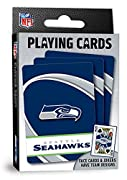 "Officially licensed NFL playing cards Perfect for tailgating, parties and more! Deck includes 52 cards and 2 jokers, suitable for all card games Standard size: 2.5"" x 3.5"" ŸMasterPieces - An American Puzzle & Game Company. We stand behind our product..."